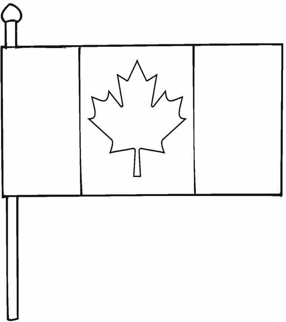flag coloring pages canada - photo#21