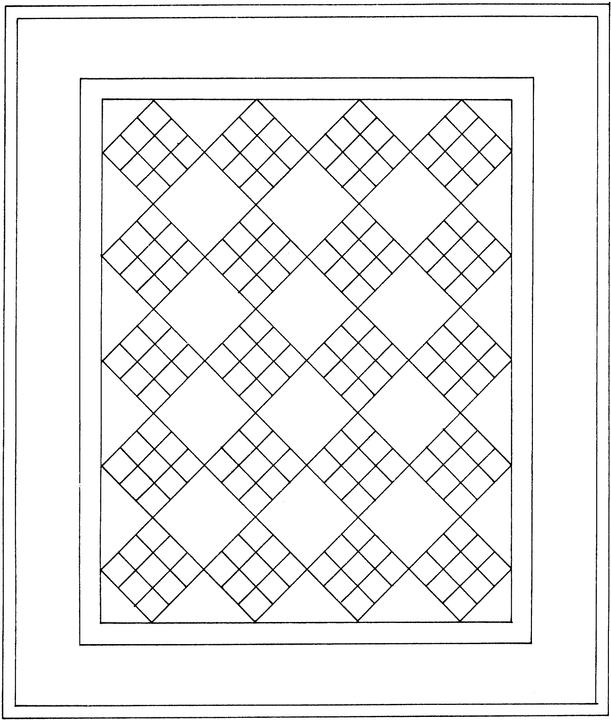 Coloring Pages Quilt Squares : Free coloring pages of a quilt