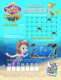 Maze · Sofia the First Puzzler Activity Sheet