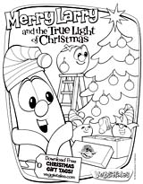 VeggieTales: Merry Larry and the True Light of Christmas Color Page