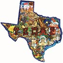 Texas Shaped Puzzle