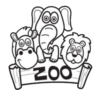 zoo color pages