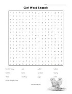 Owl Word Search