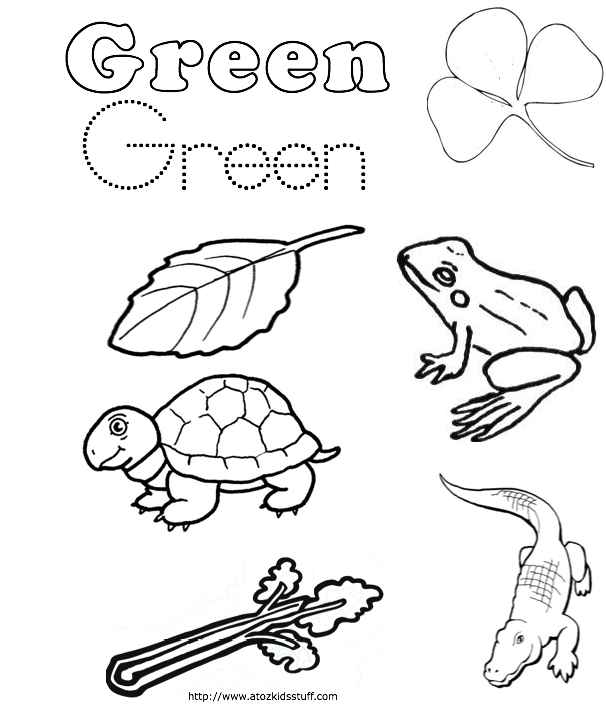 Free Coloring Pages Of Green Color Green Coloring Pages