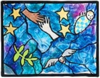 Peace Windows: in the style of Marc Chagall
