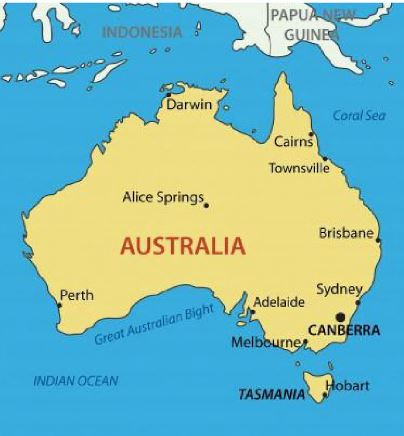 the country of australia consists of the continent of australia with the island state of tasmania