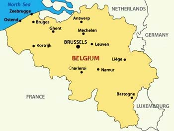Map Of Germany Luxembourg Belgium.A To Z Kids Stuff Belgium Facts For Children
