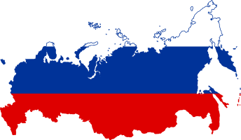 Flag Map Russia