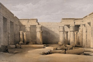 Ruins at Medinet Abou, Thebes, Egypt