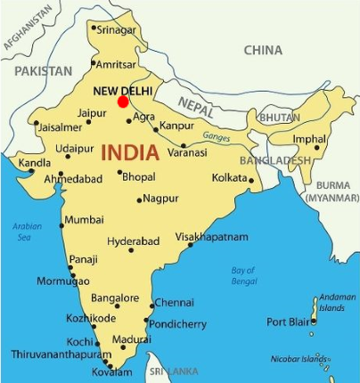 A to Z Kids Stuff | India Indian Subcontinent On A World Map on pune on world map, europe on world map, china on world map, near east on world map, middle east on world map, amritsar on world map, arabian peninsula on world map, jammu and kashmir on world map, the caribbean on world map, korean peninsula on world map, great britain on world map, yangtze river on world map, shang empire on world map, tamluk on world map, scandinavia on world map, benelux on world map, sahara on world map, sundarbans on world map, asian on world map, deccan peninsula on world map,