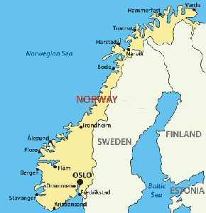 norway is located in northern europe bordering the north sea and the north atlantic oceannorway is a scandinavian nation the scandinavia peninsula in