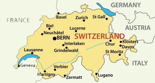 Switzerland Facts For Children A To Z Kids Stuff - Languages map of switzerland