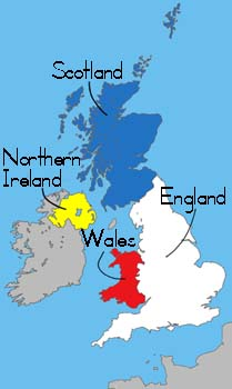 Kids Map Of England.United Kingdom Of Great Britian And Northen Ireland Facts For