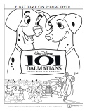 101 Dalmatians Color Page
