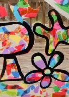 stained glass craft children