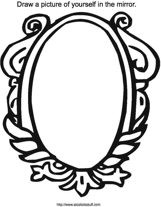 hand held mirror coloring page