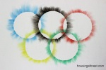 Olympic Rings Chalk Art