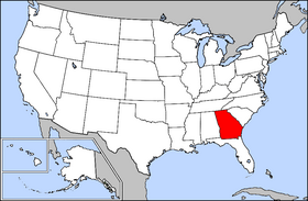 Map Of Georgia For Kids.A To Z Kids Stuff Georgia Facts For Children