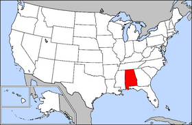 A To Z Kids Stuff Alabama Facts For Children - Alabama in usa map