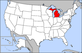Michigan Facts For Children A To Z Kids Stuff - State of state of michigan on a us map