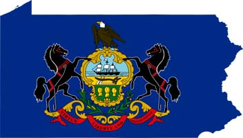 Pennsylvania Map Flag