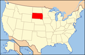 South Dakota USA Map