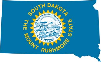 South Dakota Map Flag