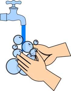 scrub handen