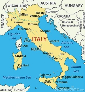 South Of France And Italy Map.A To Z Kids Stuff Italy