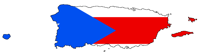 Puerto Rico Flag Map