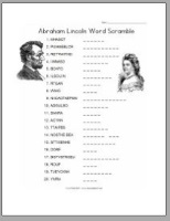 Lincoln Word Scramble