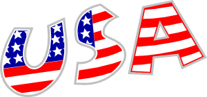 Letters USA Flag