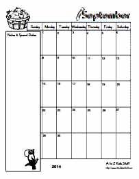 To z kids stuff editable blank monthly calendars